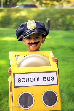 Adith as school bus driver at DePauls