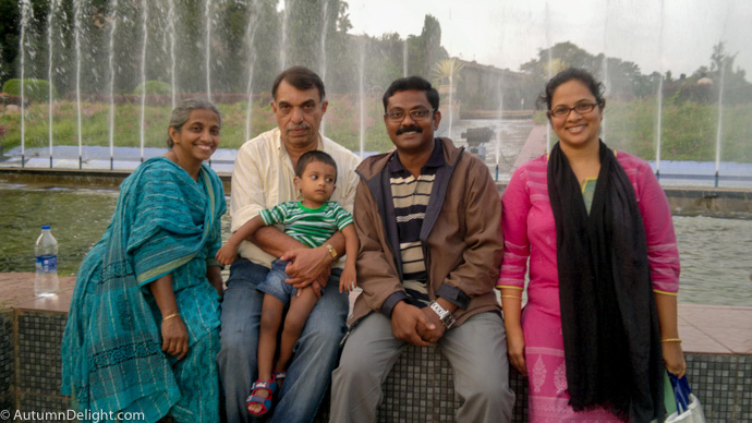Reuben and wife(Right) with Appa, Amma and Adith